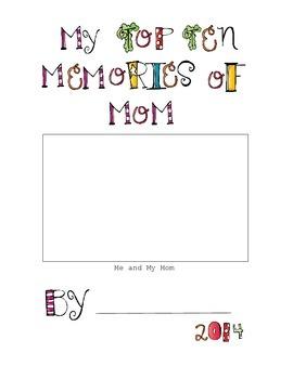 Mother's Day - Top Ten Memories
