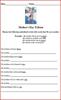 Mother's Day Tribute