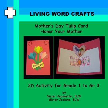 Mother's Day Tulip Card for Grades 1 to 3