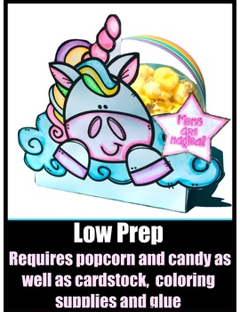 Mothers Day Unicorn Gift - Easy, Low Prep and Printable!