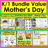 Mother's Day Activities BUNDLE Readers,Songs,Poems,Booklet + Bonus Boom Cards