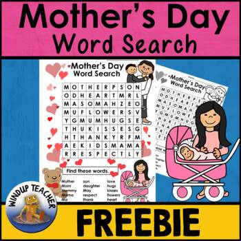 Mother's Day Word Search Freebie   * Easy