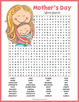 Mother's Day Word Search