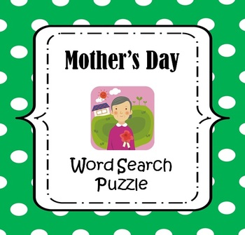 Mother's Day Word Search Puzzle {FREE}