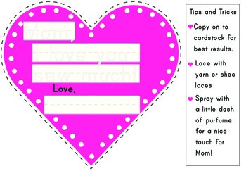 Mother's Day Write and Lace Heart