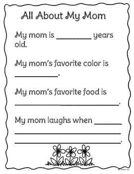 Mother's Day Writing Activities for Kindergarten, 1st, and 2nd Grade
