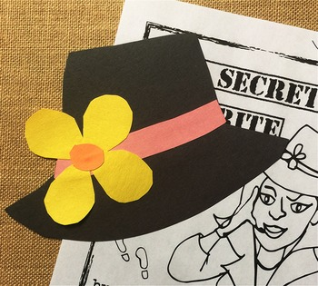 Mother's Day Craft & Writing Activity: Secret Agent Theme