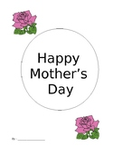 Mother's Day Writing Booklet