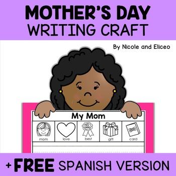 Mothers Day Beginner Writer Craft Activity
