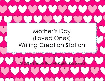 Mother's Day Writing Creation Station