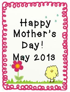 Mother's Day Writing Fun!