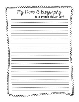 Mother's Day Writing Mini-Unit {for Grandmoms, Aunts and Friends, too!)