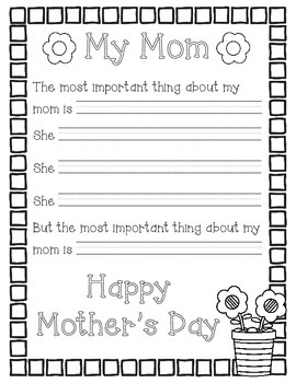 Mother's Day Writing: My Mom