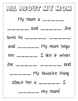 Mother's Day Writing Pack - Set of 4
