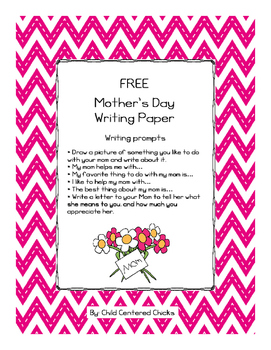 FREE Mother's Day Writing Paper
