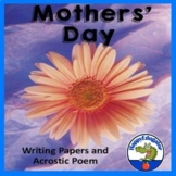 Mothers Day Writing Paper and Acrostic Poem
