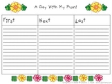 Mother's Day Writing Template First Next Last Sequencing Graphic Organizer