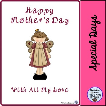 Mother's Day Writing Template and Card Cover freebie