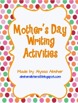 Mother's Day Writing and Poetry
