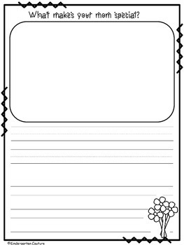Mother's Day Writing -freebie