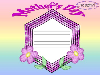 Mother's Day - Writing paper - Frames - Personal or commercial use