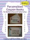 Mother's Day and Father's Day Coupon Books Bundle