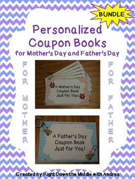 Mother's Day and Father's Day Coupon Books {Bundle}