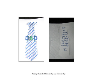 Mother's Day and Father's Day Folding Cards combination pack