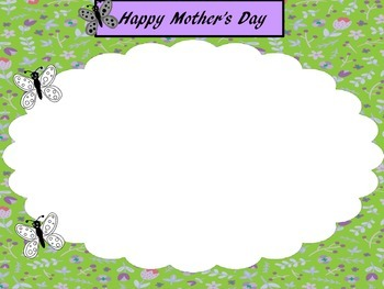 Mother's Day and Spring Picture Frames - Personal & Commercial use