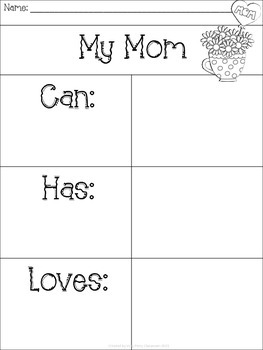 Mother's Day and Teacher Appreciation Writing Freebie
