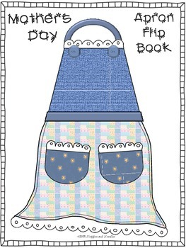 Mothers Day apron flip book