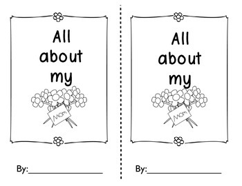 Mother's Day book, poem, craft, coupons and gift for PK-1