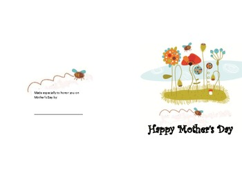 Mother's Day card booklet