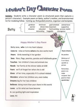 Mothers' Day Poetry Keeper