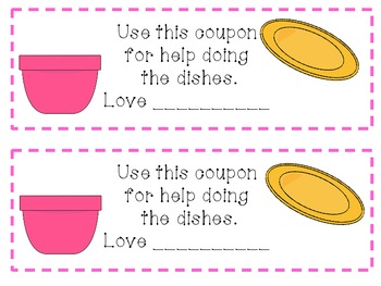 Mothers Day coupon booklets