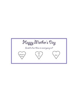 Mother's Day coupon scratch card