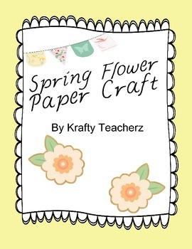 Spring flower paper craft/word family activity