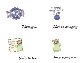 Mother's Day post card