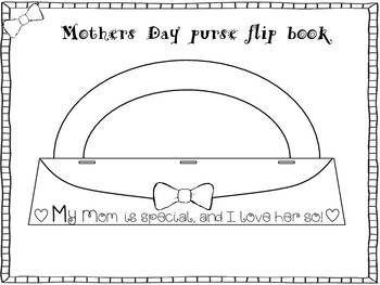 Mothers Day purse flip book