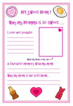 Mothers Day writing task