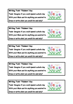 Mothers Day writing tasks