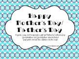Mother's Day/Father's Day booklet (grandmother and grandfa