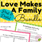 LOVE is FAMILY  Mothers Day & Fathers Day *2 Complete PreK, Homeschool Lessons*