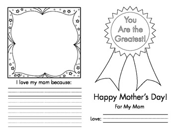Mother's, Father's and Grandparent's Day Mini-book Pack!
