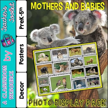 Mothers and Babies Photo Poster Display Pack {UK Teaching Resource}