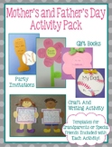Mother's and Father's Day Craft / Invitation / Book / Writing Activity Pack
