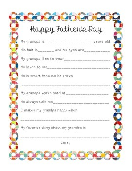 Mother's and Father's Day Printable