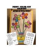 Mothers day Coupon Chores art craft flower petals Kinderga