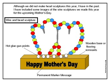 Mother's day Craftivity- Poem, card and wire sculpture