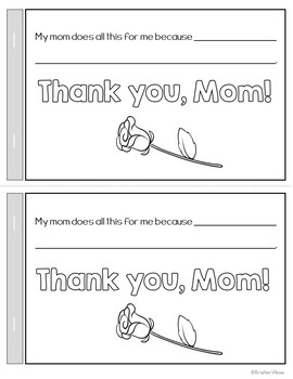 Mother's Day Mini-book